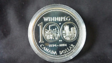 Proof Silver Dollar - 1974 - Winnipeg - Coin Only