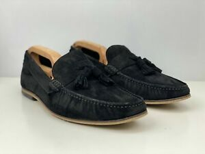 Ask The Missus Mens Black Suede Tassel Loafers uk 10 shoes office slip on ASOS