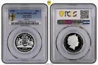 1998 Australia Twenty Cent, 20c 1938 Florin Silver PCGS - PR69DCAM