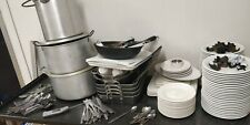 More details for job lot catering porecelite plates, cuttlery, pans, restaurant plates