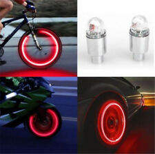 4PCS Car Red Valve Stems Caps LED Car Bike Wheel Tire Tyre Valve Dust Cap Lights