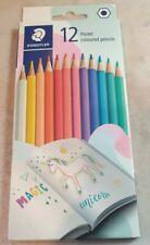 12pcs Staedtler Pastel Colour Pencils. Hexagonal Shape