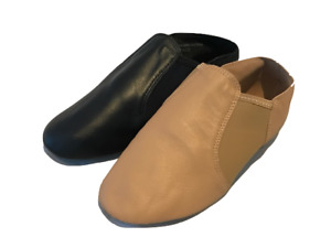 Split Sole Neoprene Elastic and Leather Pull On Jazz Shoes / Booties