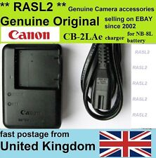 Original Canon cb-2lac Charger for nb-8l PowerShot a2200 a3100 a3200 a3300 a3350
