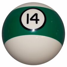 14 Ball Green Stripe Billiard shift knob manual M12x1.25 Thread U.S MADE