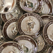 6 silber-braune Wappenknöpfe aus Metall für Blazer (a202sb-20/21mm)