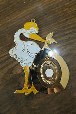 Stork & Picture Ornament