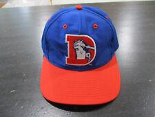 save off 29c07 93ff5 VINTAGE Logo 7 Denver Broncos Snap Back Hat Cap Blue Orange Football Mens  90s