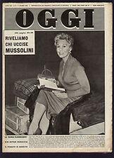 OGGI 9/1956 KIM NOVAK ALGERI MUSSOLINI AUDREY HEPBURN E MEL FERRER EZIO VANONI