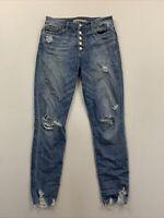 Joe's Women's Blue High Waist Button Fly Skinny Fit Jeans Size 28