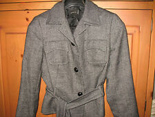 AKRIS PUNTO $1,490 100% Alpaca Fitted Belted Jacket Top Size 10