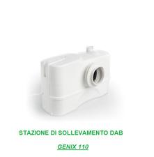 Trituratore Pompa automatica di sollevamento DAB GENIX 110 ( 1 WC+ 1 lavabo)