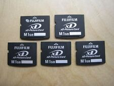 Lot of 5 Fujifilm M 1GB xD Picture Memory Card (DPC-M1GB)