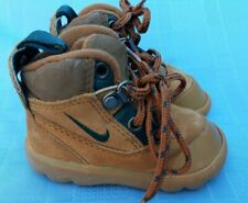 Baby Toddler Nike Brown Hiking Boots Shoes Size US 4 String Closure