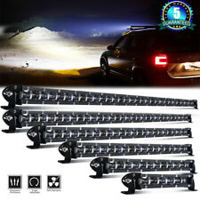 Slim 14 20 25 32 38 44 50 LED Light Bar Single Row Slim Off Road Driving ATV SUV