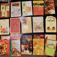 10 Thanksgiving American Greeting Cards New Assorted Lot with Envelopes