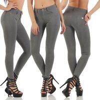11159 Treggings Leggings High Waist Röhrenhose pants grau Stretchhose