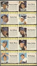 1961 Post Cereal Box Full Perforated Sheet LA Dodgers Team of 10 Snider Drysdale