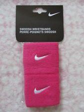 Nike Swoosh Wristbands Vivid Pink/White Pair