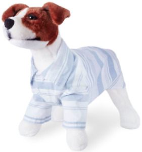 Striped Button-Down Dog Shirt - M L XL XXL - Blue/White - Summer Chambray - NWT
