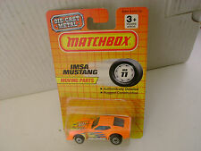 1992 MATCHBOX SUPERFAST #11 MB11 ORANGE IMSA MUSTANG NEW MOC