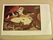 Vintage Cat postcard In A Bad Fix kitties 1906 copyright Chicago Sunday American