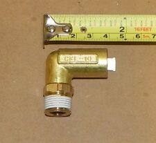 "Qty-10) Chiyoda Pneumatic Fitting Ckl-10-03 10Mm Tube X 3/8"" R Male Elbow"