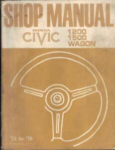 HONDA CIVIC 1200,1500 & WAGON 1973-1976 FACTORY WORKSHOP MANUAL