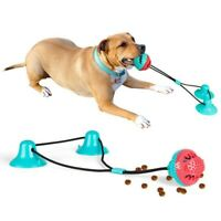 Double Suction Cup Interactive Toy Ball Pet Dog Cat Rubber Molar Bite Chew Toy