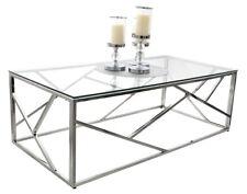 TABLE BASSE GLAMOUR VERRE CT020 CT021A ACIER CHROME TABLE DESIGN MODERNE TUTUMI