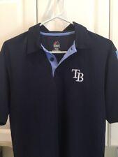 Tampa Bay Rays  Collar Shirt adult SMALL Majestic FREE SHIPPING!