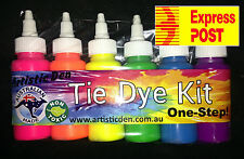 """6 x Neon Colours Tye Dye Set  """" EXPRESS POSTAGE ONLY""""- Professional Grade"""