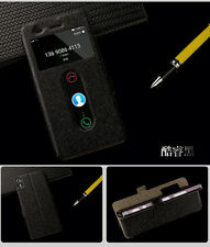 Window View Slim Slik PU Leather Flip Cover Stand Case For Lenovo Vibe Shot Z90