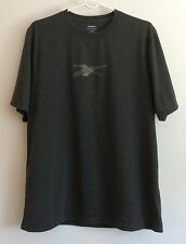Reebok Play Dri T Shirt Gray With Graphic Logo Men'S Medium