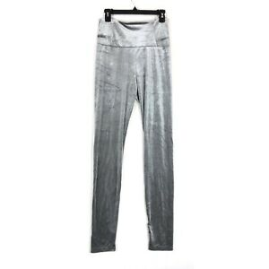 RDI size Medium legging silver velvet stretch pull on M NEW