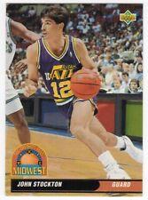 figurina CARD BASKET NBA 1992/93 NEW numero 48 JOHN STOCKTON