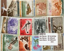 San Marino Collection of 50 Different Stamps Saint Marin Timbres Briefmarken