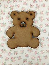 10 X Wooden Mdf Teddy Bear Blank Craft Shapes Bunting Decoupage