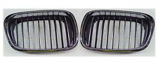 BMW 5 E39 00-04 2x PARRILLA / RIÑON Delantero Izquierda+Derecha Negro Cromo