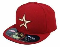 New Era 59Fifty Cap Houston Astros Authentic Alternate Maroon Fitted Hat 5950