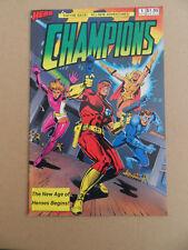 Champions 1 .Intro Marksman & The Rose .  Hero Comics . 1987 .  VF - minus
