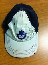 USED TORONTO MAPLE LEAFS  MOLSON CANADIAN PROMOTIONAL DENIM BASEBALL HAT BLUE