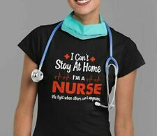 NEW! COVID Frontline  Awareness Can't Stay Home I'm a Nurse T-shirts S-3XL