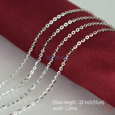 Solid Sterling Silver 22 INCH Link Necklace chain Italian for Pendants Jewelry