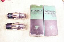 Two, NEW in box, Sylvania, #45 tubes, matching date pair, UX-245, CX-345