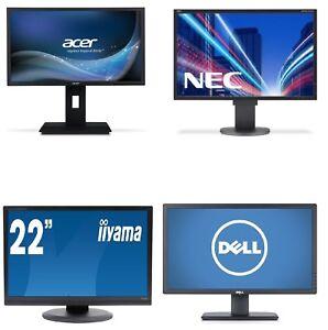 """22"""" INCH FLAT LCD MONITOR VGA / HDMI SCREEN (Various Brands) DELL, HP, SAMSUNG"""