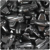 6 x 25mm Black Opaque Planes Shape Pony Beads ,IDEAL FOR DUMMY CLIPS