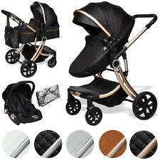 Juma 3 in 1 Kombi- Kinderwagen Babyschale Buggy Autokindersitz Schwarz BWARE