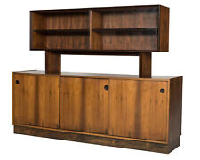 Falster Clausen & Søn Maurice Villency Rosewood Danish Modern Credenza w Hutch