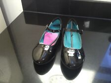 JOHN LEWIS BLACK PATENT LEATHER CAMDEN BROGUE GIRLS SHOES. SIZE 5. NEW WITH TAG